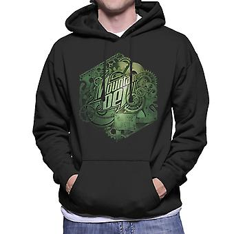 Mountain Dew Cogs Of A Soft Drink Men's Hooded Sweatshirt