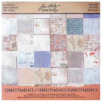 Idea-ology Tim Holtz Paper Stash Correspondence 36 Sheets
