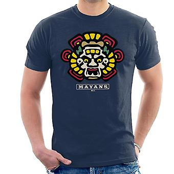Mayans M.C. Motorcycle Club Face Colour Logo Emblem Men's T-Shirt