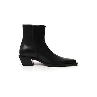 Balenciaga 624427wa72d1090 Men's Black Leather Ankle Boots