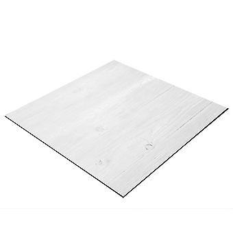 BRESSER Flatlay Hintergrund für Legebilder 40x40cm Holzplanken weiß