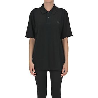 Acne Studios Ezgl151064 Mujer's Camiseta Polo de Algodón Negro