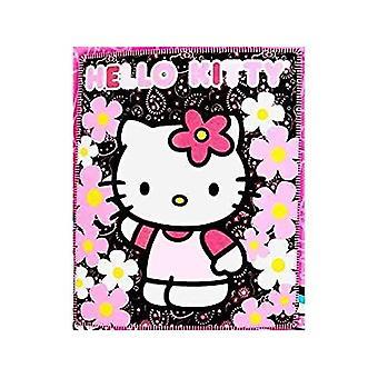 Blanket - Hello Kitty - Black Sunflwers New 50x60