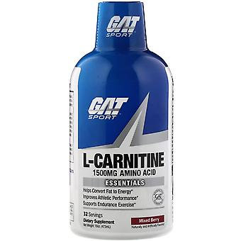 GAT, L-Carnitine, Aminozuur, Mixed Berry, 1.500 mg, 16 oz (473 ml)