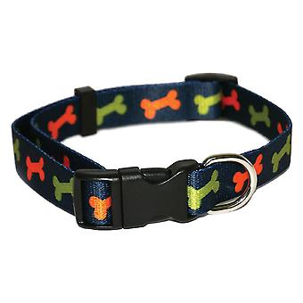 Wag N Walk Bone Nylon Collar - 3/4 inch x 14-20 inch