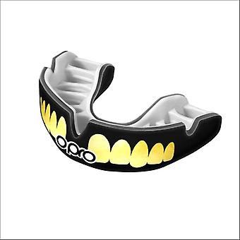 Opro power fit bling dientes protector boca blanco/negro