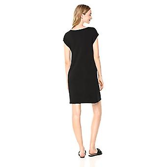 Brand - Daily Ritual Women's Supersoft Terry Muscle Tee Dress, black, Large