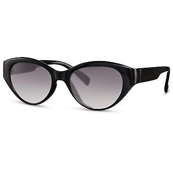 النظارات الشمسية المرأة القط البيضاوي. 3 أسود / دخان