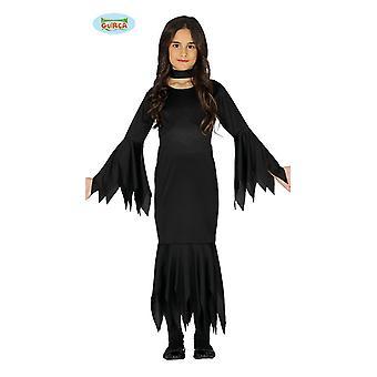 Lady Monter Mädchen Halloeen Kostüm Vampirin Fledermaus
