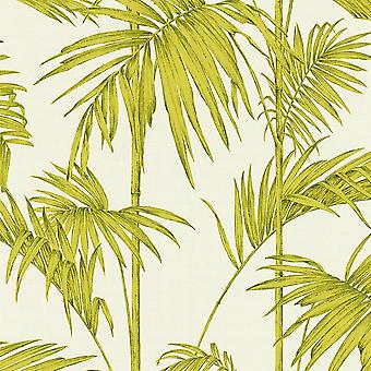 Lola Paris Palm Motif Wallpaper Cream / Green AS Creation 36919-4