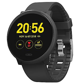 Smartwatch with heart rate monitor and sleep analysis - Black
