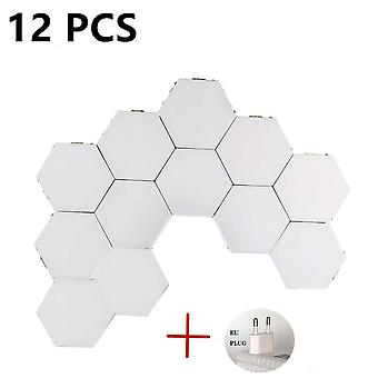 Diy  Touch Switch Quantum Led Hexagonal Modular Nordic Wall Lamp Lights For Home Living Room Bedroom
