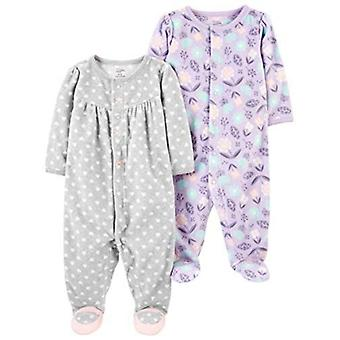 Simple Joys de Carterăs Baby Girlsă 2-Pack Fleece Footed Sleep and Play, Kitt...