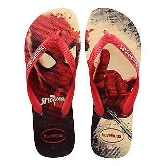 Havaianas Marvel Spiderman Flip Flops - Ruby Red