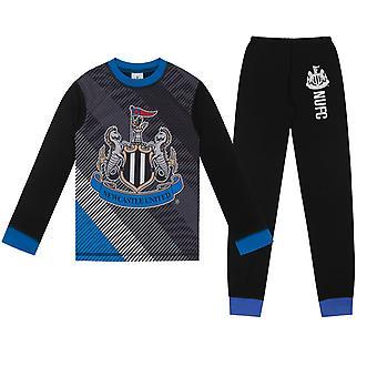 Newcastle United FC Oficial Football Gift Boys Sublimation Long Pyjamas