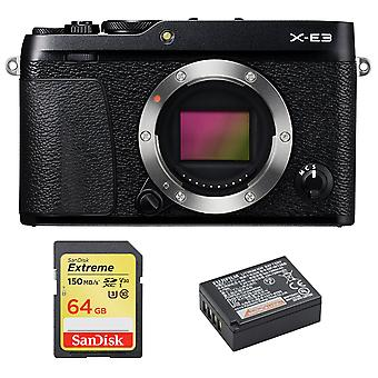 Fujifilm X-E3 Body Black + 64GB SD card + NP-W126S Bateria