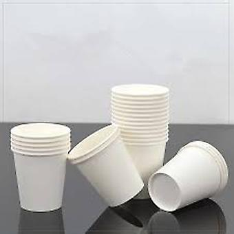 100pcs Thick White Paper Cup Disposable - Tea Milk Coffee Cup
