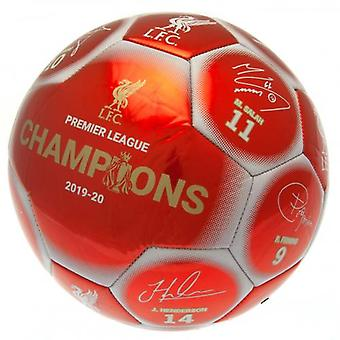Liverpool Premier League Champions Football Signature RW