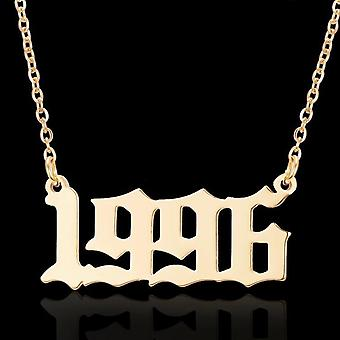 Gold plated necklace chain in 1996 unisex