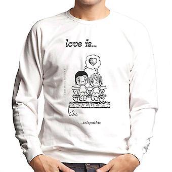 Love Is Telepaattinen Miesten's Collegepaita