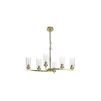 Nina Pendant/semi Ceiling, 6 X E14, Polished Gold