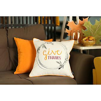 Fall Thanksgiving Pie Square - Kast Pillow Cover (sæt af 4)