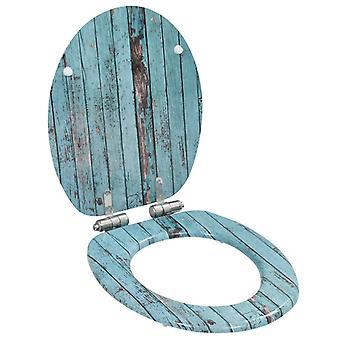 Wc-bril met soft-close deksel MDF teruggewonnen hout ontwerp