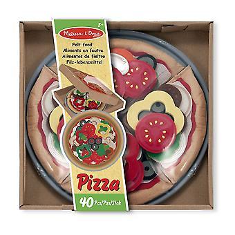 Melissa och Doug filt mat Pizza Set