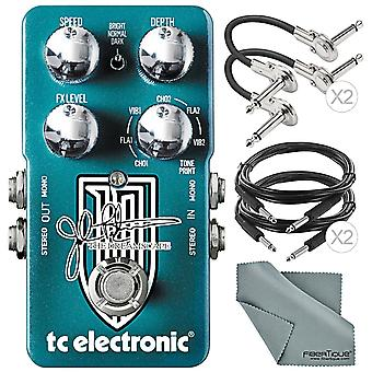 Tc electronic dreamscape john petrucci signature multi-effects pedal and accessory bundle w/ cables & fibertique cleaning cloth