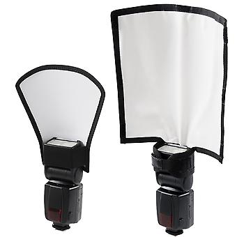 Diffusore flash Waka, flash reflector portatile bounce bender camera speedlight softbox kit per canone