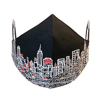 New York Embroidered Skyline Fashionable Face Mask