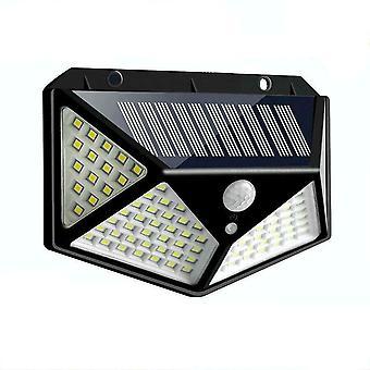 100 Led Solar Light, Żarówka lampy ściennej na zewnątrz, Oświetlenie czujnika ruchu Ip65 Pir
