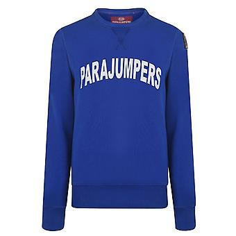 Parajumpers Caleb Large Brand Logo Navy Jumper