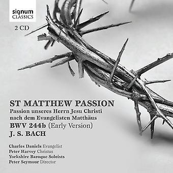 Bach, J.S. / Daniels / Harvey / Seymour - St. Mattew Passion [CD] USA import
