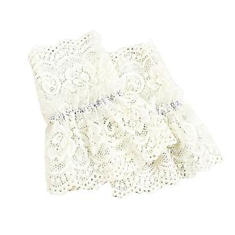 Women Fake Flare Sleeves Female Floral Lace Pleated Cuffs Sweater Wrist Warmers