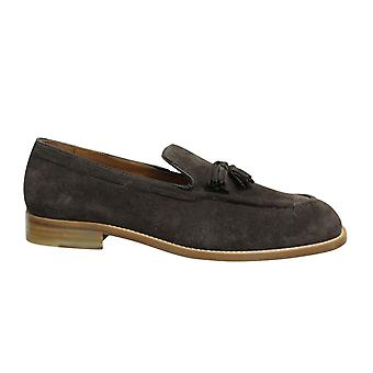 Hackett London FC Tassel Suede Leather Brown Slip On Mens Loafers HMS20804 878