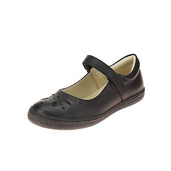 PRIMIGI Mary Jane Shoe Velcro Punched Detailing Black
