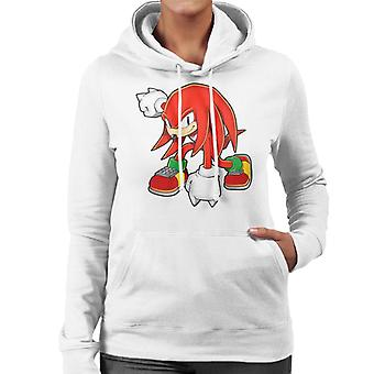 Sonic The Hedgehog Knuckles The Echidna Landing Women's Hooded Sweatshirt
