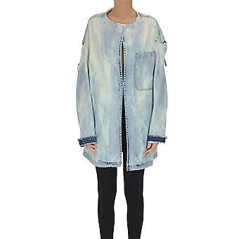 Yohji Yamamoto Ezgl123020 Women's Light Blue Cotton Outerwear Jacket