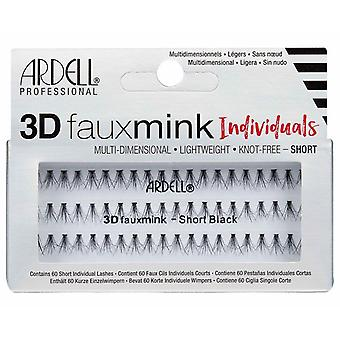 Ardell 3D Faux Mink Short Individual Lashes in Black - Lightweight & Knot Free