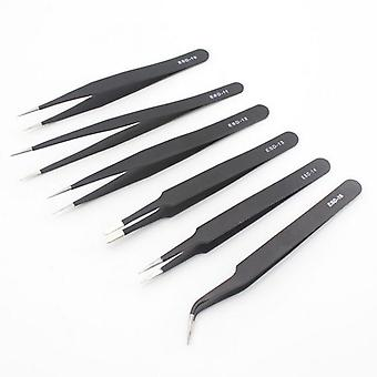 Esd Industrial Anti- Magnetic Stainless Steel Tweezers Set For Electronics