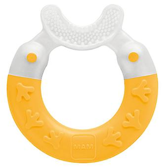 Mam bite and brush teether yellow