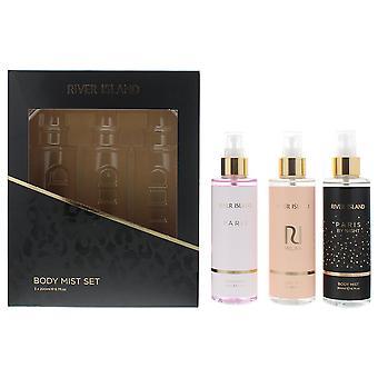 River Island Body Mist Set 3 x 200ml - Paris, Milan & Paris By Night - Giftset