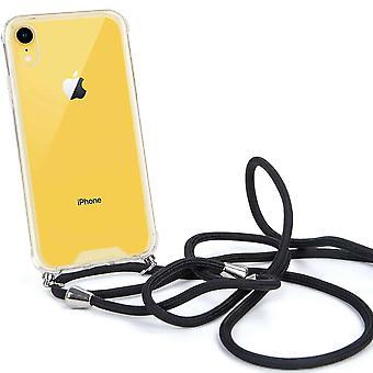 FONU Siliconen Anti-Shock Backcase Hoesje Met Koord iPhone XR