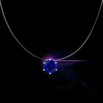 Invisible Fishing Line  Zircon Choker Necklace