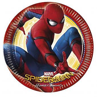 Feestborden Spider-Man 23 Cm 8 Stuks 292475