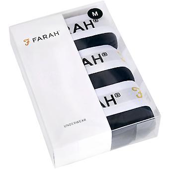 3 Pack Farah Mens Hamill Elasticated Underwear Boxer Shorts Briefs - Blue
