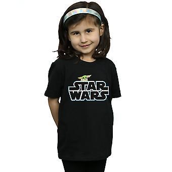 Star Wars tytöt Mandalorian lapsi logo T-paita