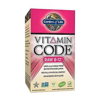 Vitamin code RAW B-12 30 vegetable capsules