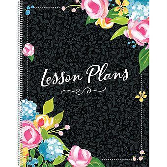 Libro de plan de lecciones florales de lujo